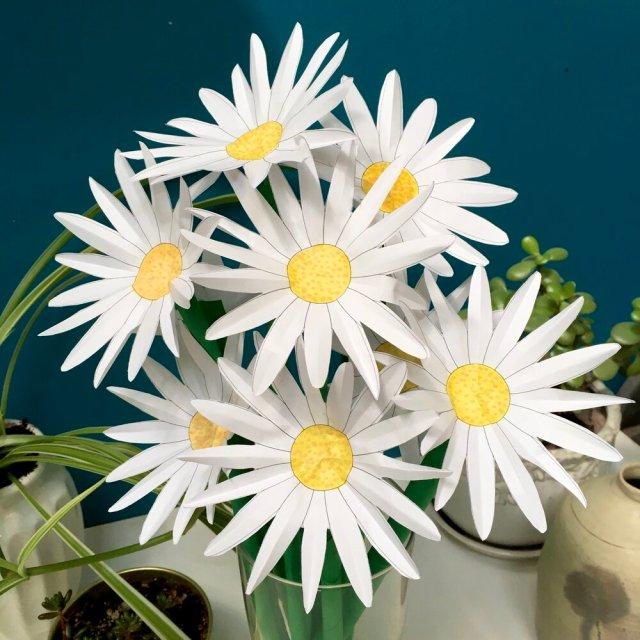 Easy+Paper+Flowers+Daisy+Daisies+3D+DIY+StephenBaranyCOM+3
